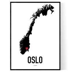 Oslo Heart Poster