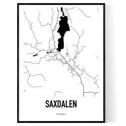 Saxdalen Karta