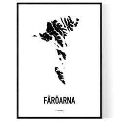 Färöarna Karta 2 Poster