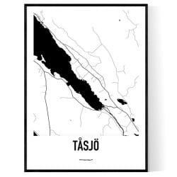 Tåsjö Karta
