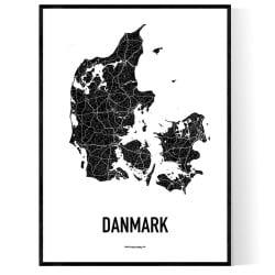 Danmark Karta 2 Poster