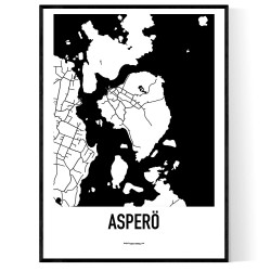 Asperö Karta