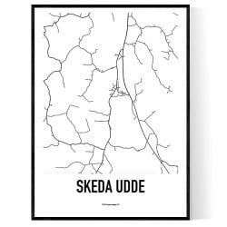 Skeda udde Karta