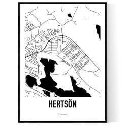 Hertsön Karta
