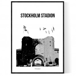 Stockholm Stadion Poster