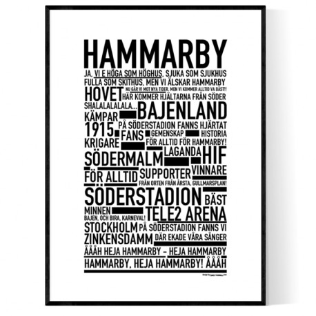 Hammarby IF Poster