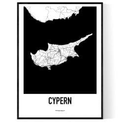Cypern Karta Poster