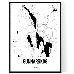 Gunnarskog Karta