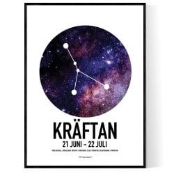 Kräftan Stjärntecken Poster