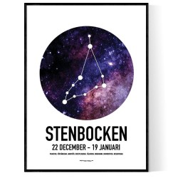 Stenbocken Stjärntecken Poster