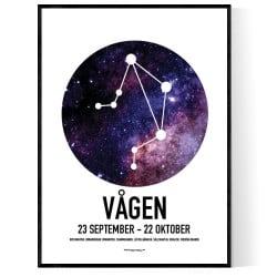 Vågen Stjärntecken Poster