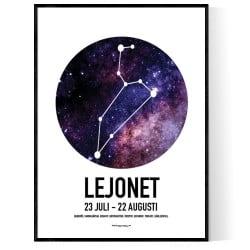 Lejonet Stjärntecken Poster