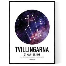 Tvillingarna Stjärntecken Poster