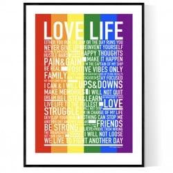 Love Pride Life Poster