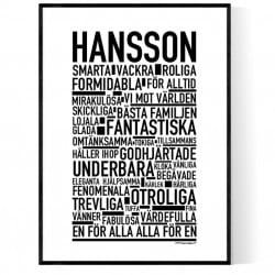 Hansson Poster