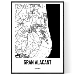 Gran Alacant Karta