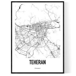 Teheran Karta Poster