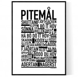 Pitemål Poster