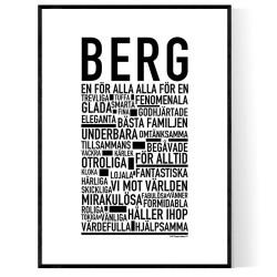 Berg Poster