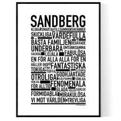 Sandberg Poster