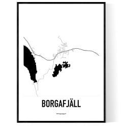 Borgafjäll Karta