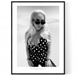 Desert Woman BLK/WHT Poster