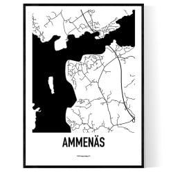 Ammenäs Karta