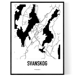 Svanskog Karta