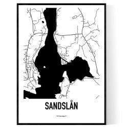 Sandslån Karta