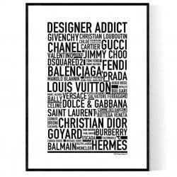 Designer Addict Poster