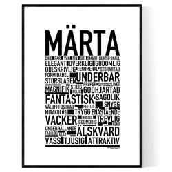 Märta Poster