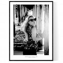 Newport Beach Lady Poster