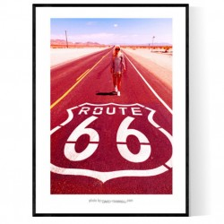 Route 66 Girl Poster