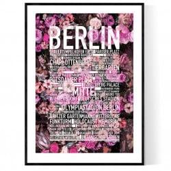 Berlin Flower Poster