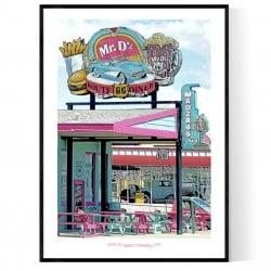 Mr D's Diner Poster