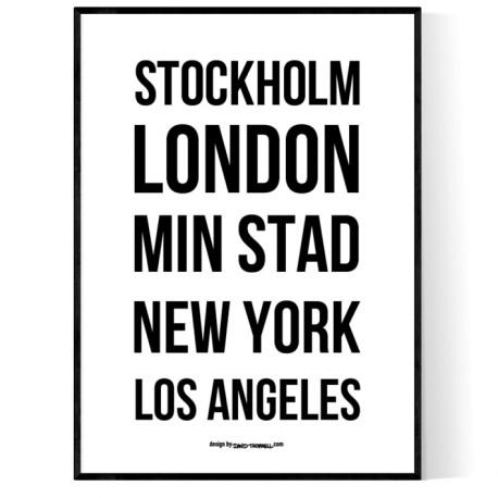 Din Egen Stad Poster