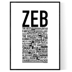 Zeb Poster