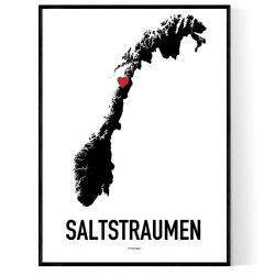 Saltstraumen Heart Poster