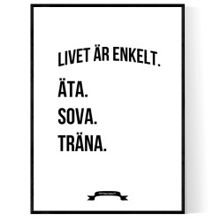 Träna Livet Poster
