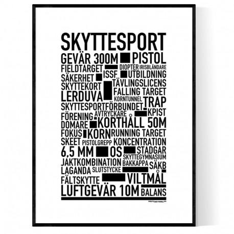 Skyttesport Poster