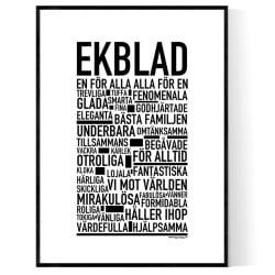 Ekblad Poster