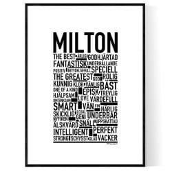 Milton Poster