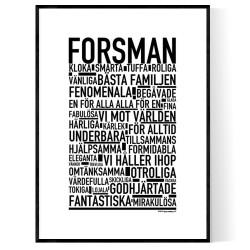 Forsman Poster