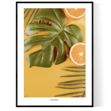 Orange And Leaves Poster