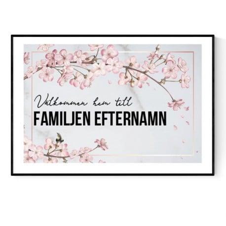 Välkommen Hem Eget Efternamn Poster