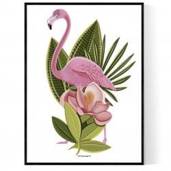 Big Flamingo Poster