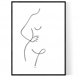 Lady Curved Figure Poster