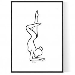 Acrobatic Figure Poster