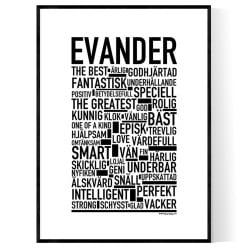 Evander Poster