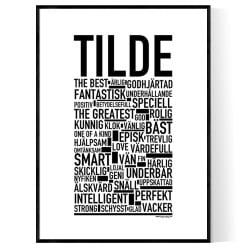 Tilde Poster